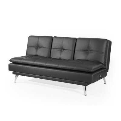 Kirkbride Convertible Sofa Upholstery: Black