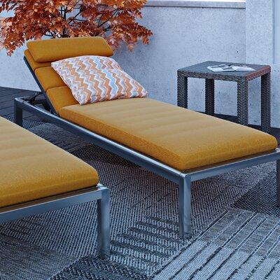 Alfonso Outdoor Chaise Lounge Cushion Set Fabric: Tikka Orange
