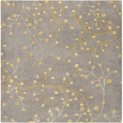 Middlebrooks Medium Gray Area Rug Rug Size: Square 6