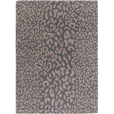 Macias Handmade Gray Animal Print Area Rug Rug Size: Rectangle 8 x 11