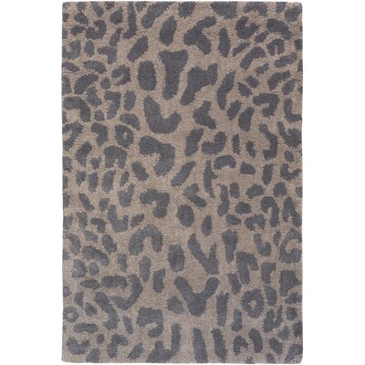 Macias Handmade Gray Animal Print Area Rug Rug Size: Rectangle 2' x 3'