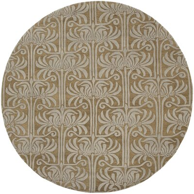 Cullen Brown Area Rug Rug Size: Round 8