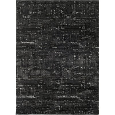 Zach Black Area Rug Rug Size: Runner 23 x 71