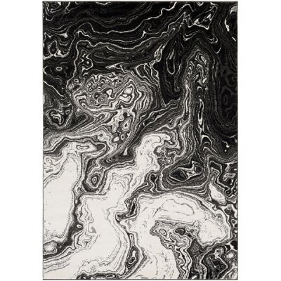 Callisto Black/Gray Area Rug Rug Size: Rectangle 711 x 10