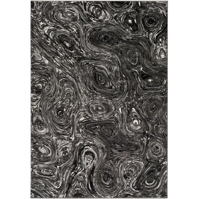 Callisto Charcoal/Gray Area Rug Rug Size: Rectangle 53 x 76