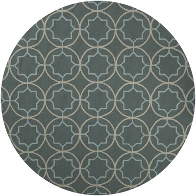 Holstein Stormy Sea Circle Indoor/Outdoor Rug Rug Size: 9 x 12