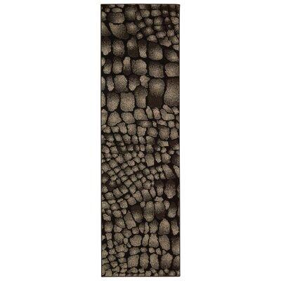 Cherelle Black Area Rug Rug Size: Runner 22 x 76