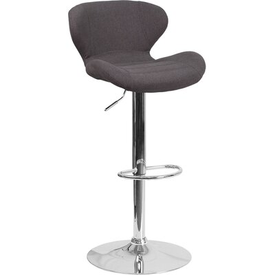 Mullaney Adjustable Height Swivel Bar Stool Seat Color: Black