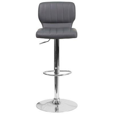 Aristocles Adjustable Height Swivel Bar Stool Color: Anchor Gray