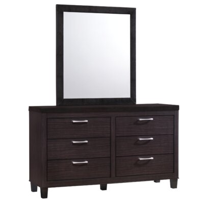 Epicurus 6 Drawer Dresser with Mirror