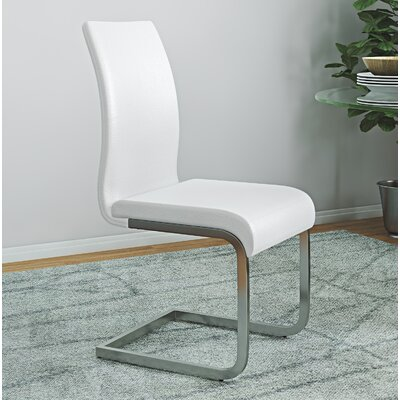 Colt Side Chair Upholstery: White