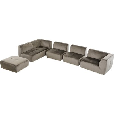 Alsatia Sectional Upholstery: Gray, Orientation: Left Hand Facing
