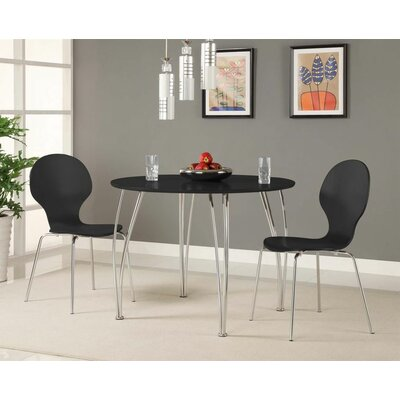 Bentwood Round Chair Side Chair Finish: Black
