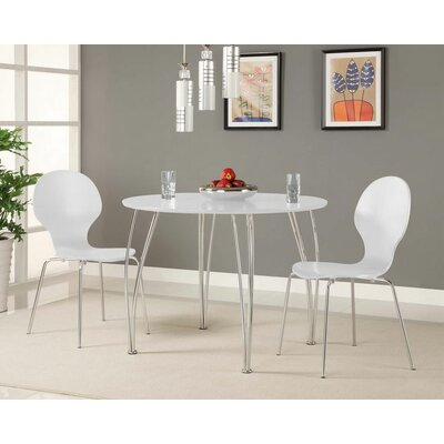 Bentwood Round Chair Side Chair Finish: White