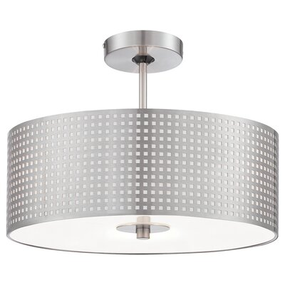 Mancos 1-Light Drum Pendant Size: 7.5 H x 24 W x 24 D