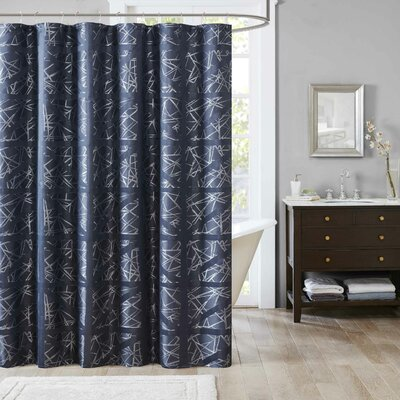 Sedalia Shower Curtain Color: Navy