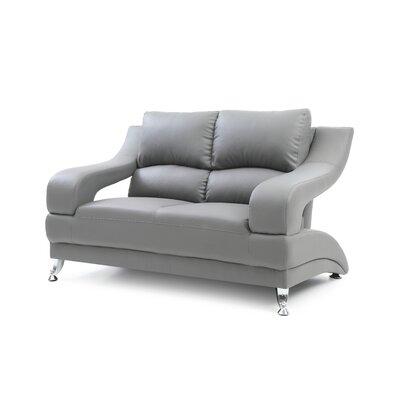 Palice Loveseat Upholstery: Gray
