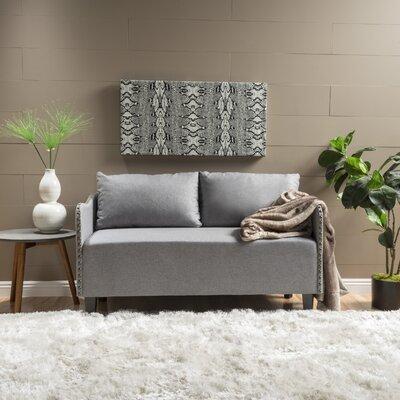Mohamad Loveseat Upholstery: Gray