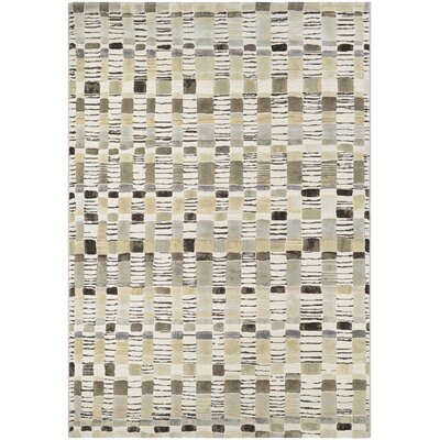 Ari Bone/Antique Cream Area Rug Rug Size: 92 x 125