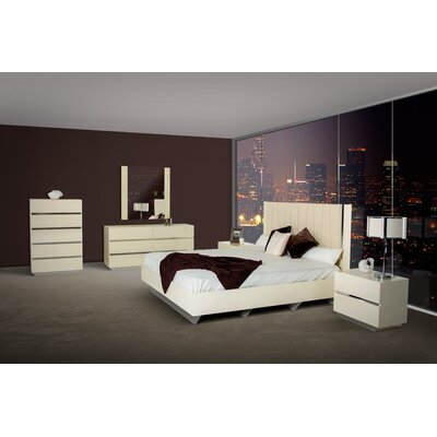 6 Drawer Dresser with 2 Nightstands Color: Beige