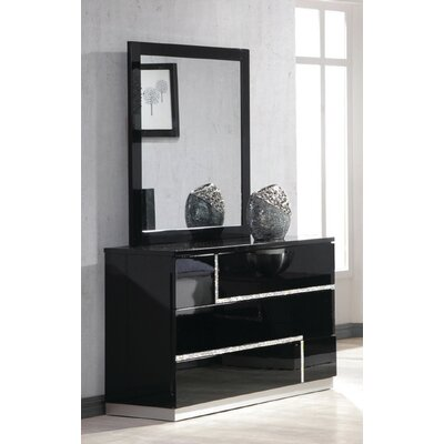 Lowrey 3 Drawer Dresser with Mirror