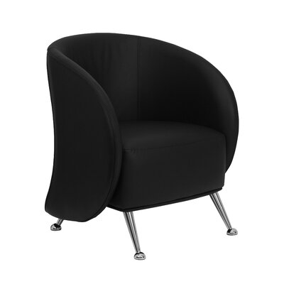 Hypnos Reception Lounge Chair Leather: Black