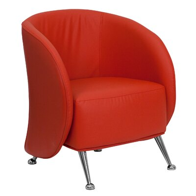 Hypnos Reception Lounge Chair Leather: Red