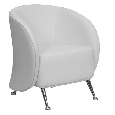 Hypnos Reception Lounge Chair Leather: White