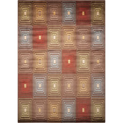 Vienna Brown Area Rug Rug Size: 53 x 75