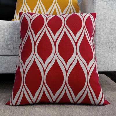 Ochoa Throw Pillow Size: 22 H x 22 W x 4 D, Color: Cherry / Light Gray