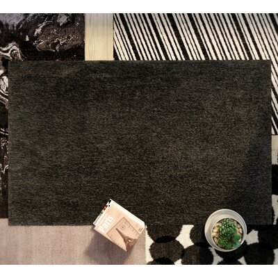 Page Dark Gray Shag Area Rug Rug Size: Rectangle 4 x 6