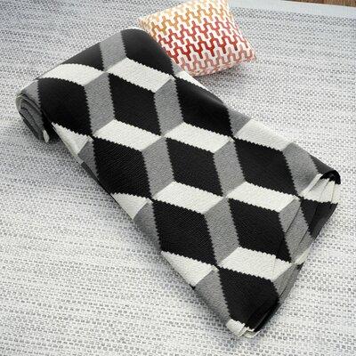 Benedict Cashmere Throw Blanket Color: Black