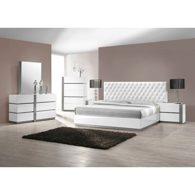 Kajal Platform 5 Piece Bedroom Set Size: King