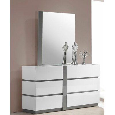 Kajal 6 Drawer Dresser with Mirror