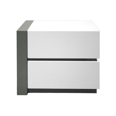 Kajal 2 Drawer Nightstand Orientation: Left Facing