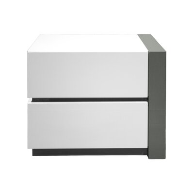 Kajal 2 Drawer Nightstand Orientation: Right Facing