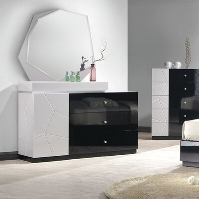 Jinn 4 Drawer Dresser with Mirror