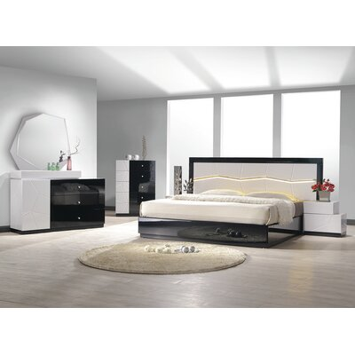 Jinn Platform 5 Piece Bedroom Set Bed Size: King