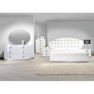 Rachna Platform 5 Pieces Bedroom Set Bed Size: California King