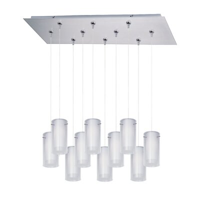 Collingdale 10-Light Cascade Pendant Finish: Satin Nickel