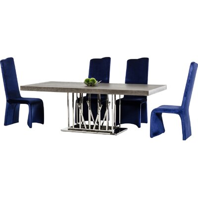 Camron Wood Top Dining Table