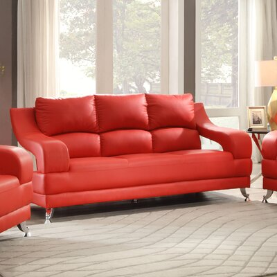 Palice Sofa Upholstery: Red