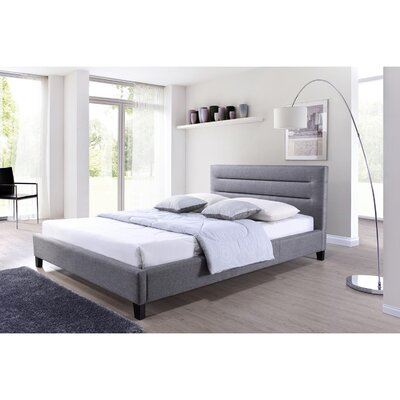 Lena Upholstered Platform Bed Size: Queen, Upholstery: Grey