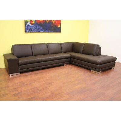 Glennis Leather Sectional Orientation: Right Hand Facing