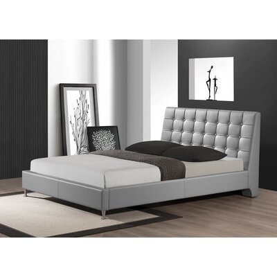 Gabrielle Queen Upholstered Platform Bed Upholstery: Gray
