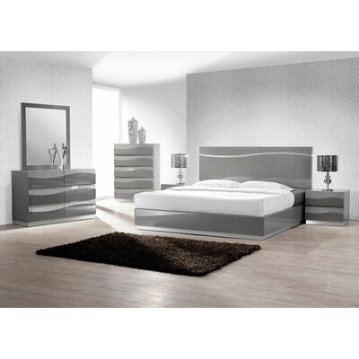 Moumoune Platform 5 Piece Bedroom Set Size: Queen