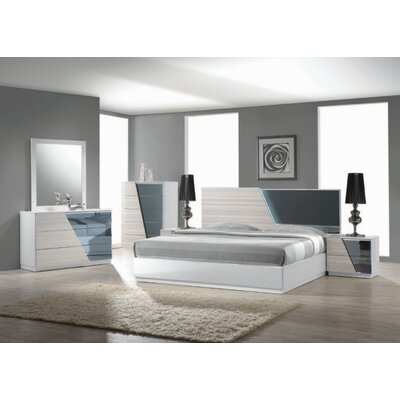 Murakami Platform 5 Piece Bedroom Set Size: California King