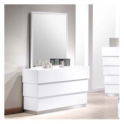 Langridge 3 Drawer Dresser with Mirror