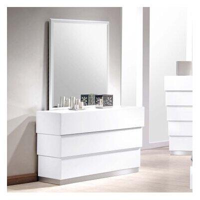 Langridge 3 Drawer Dresser with Mirror