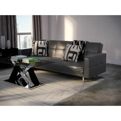 Bruhn Sleeper Sofa Upholstery: Black